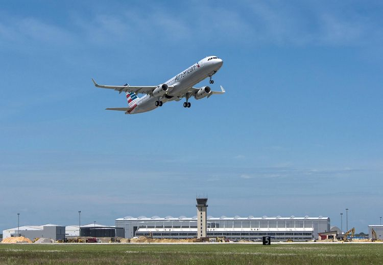 American Airlines' first U.S.-built A321_first flight 1