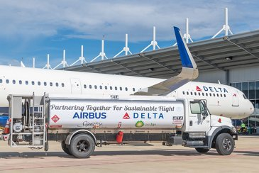 Delta Air Lines' A321 – sustainable fuel