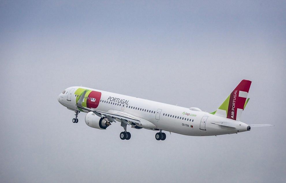 Infografía del primer Airbus A321LR de TAP Portugal.