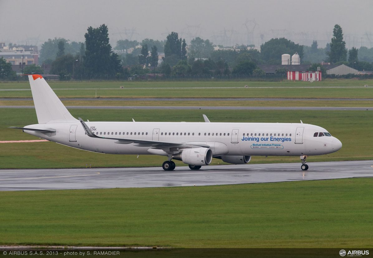 A321 sustainable aviation fuel  arrival 1
