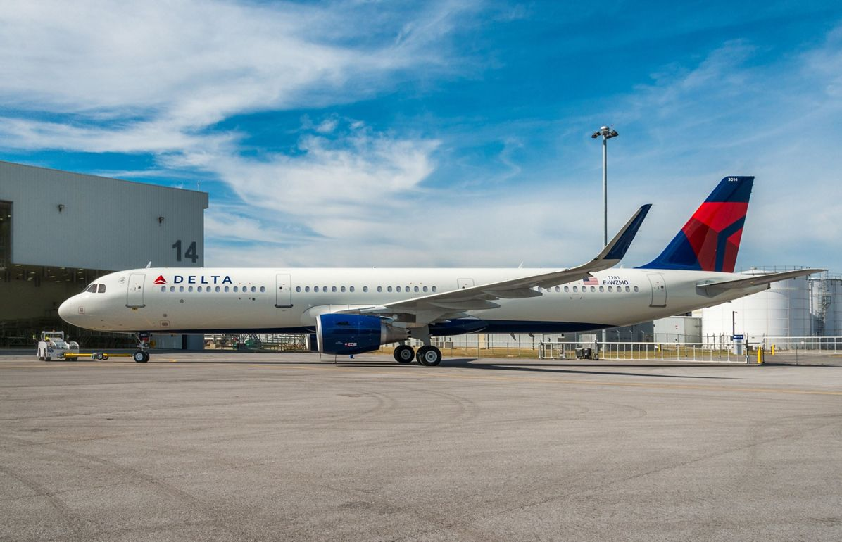 Delta Air Lines receives its first U.S.-produced Airbus aircraft