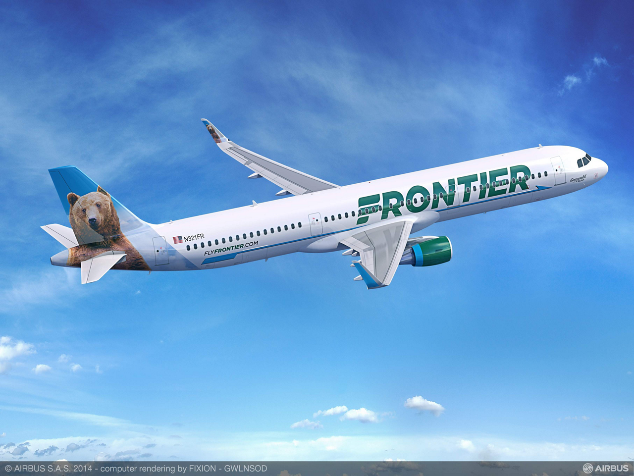 U.S.-based Frontier Airlines' firm order for 10 A321s and two A320s – all of which are current engine option (CEO) aircraft – was announced 2 June 2015