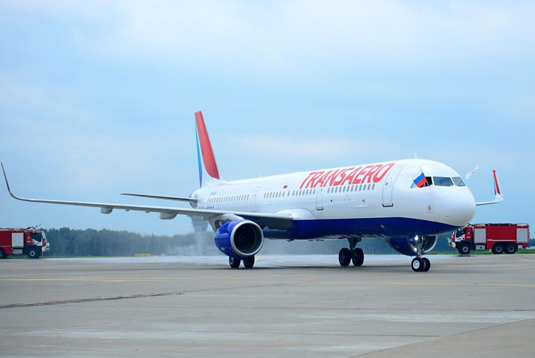 Transaero Airlines' first Airbus A321