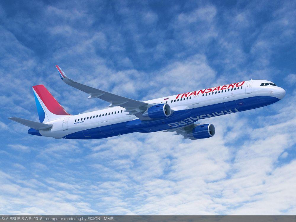 Transaero Airlines' Airbus A321_1