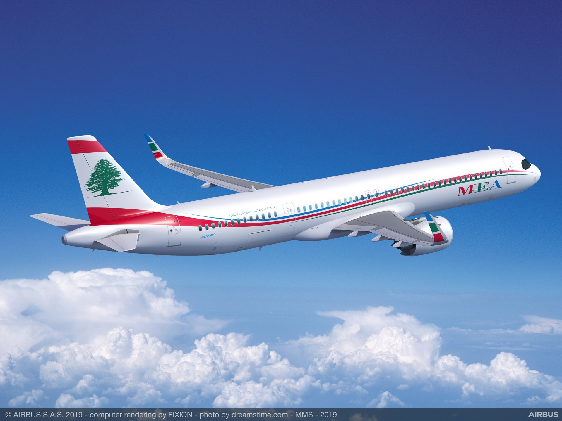 Lebanese flag carrier Middle East Airlines (MEA) became the launch airline customer for Airbus' A321XLR with a firm order for four aircraft