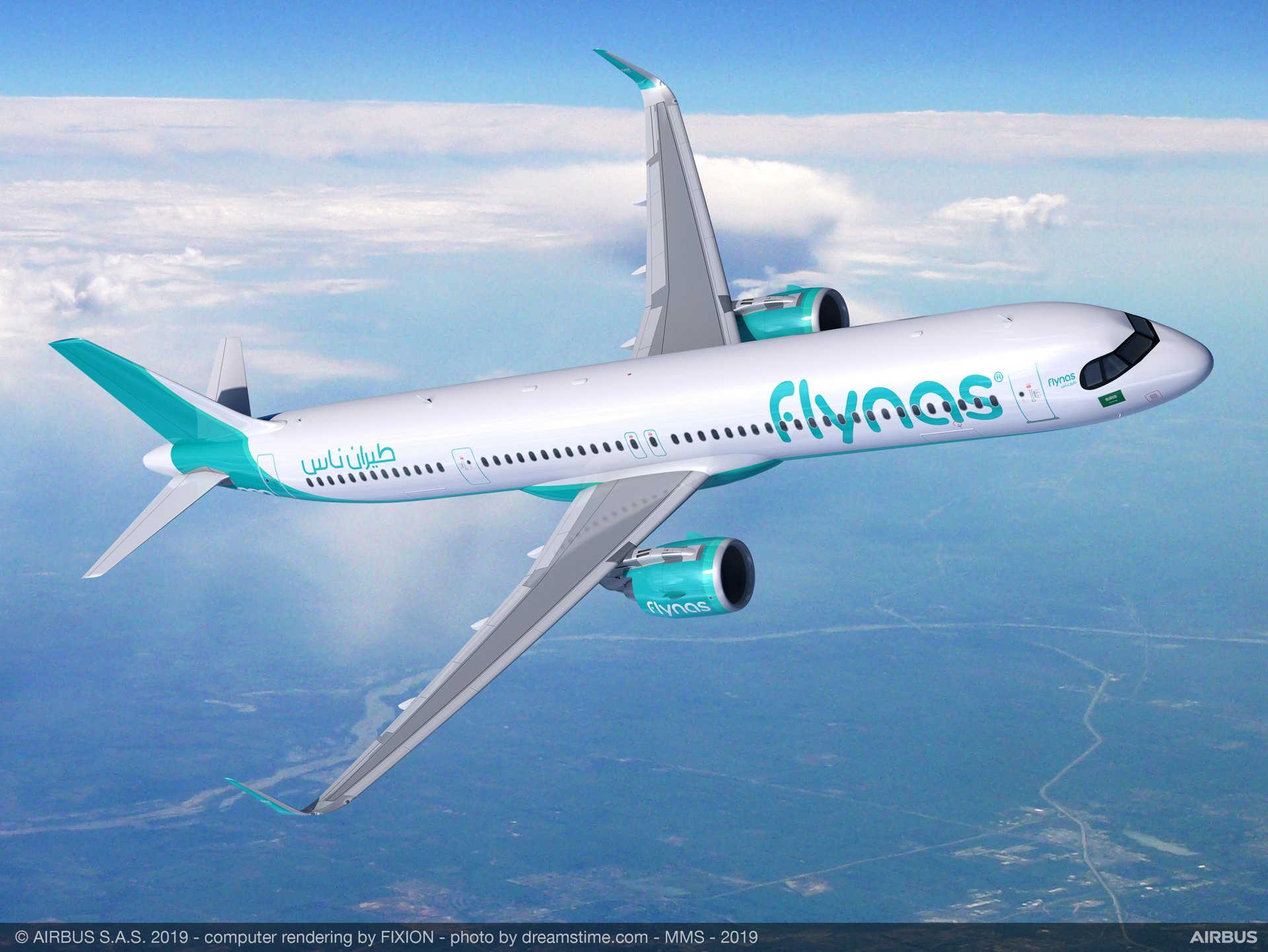 Saudi Arabian operator Flynas signed a Memorandum of Understanding with Airbus for 10 long-range A321XLR aircraft, and will upsize 10 A320neos currently on order to the longer-fuselage A321neo version