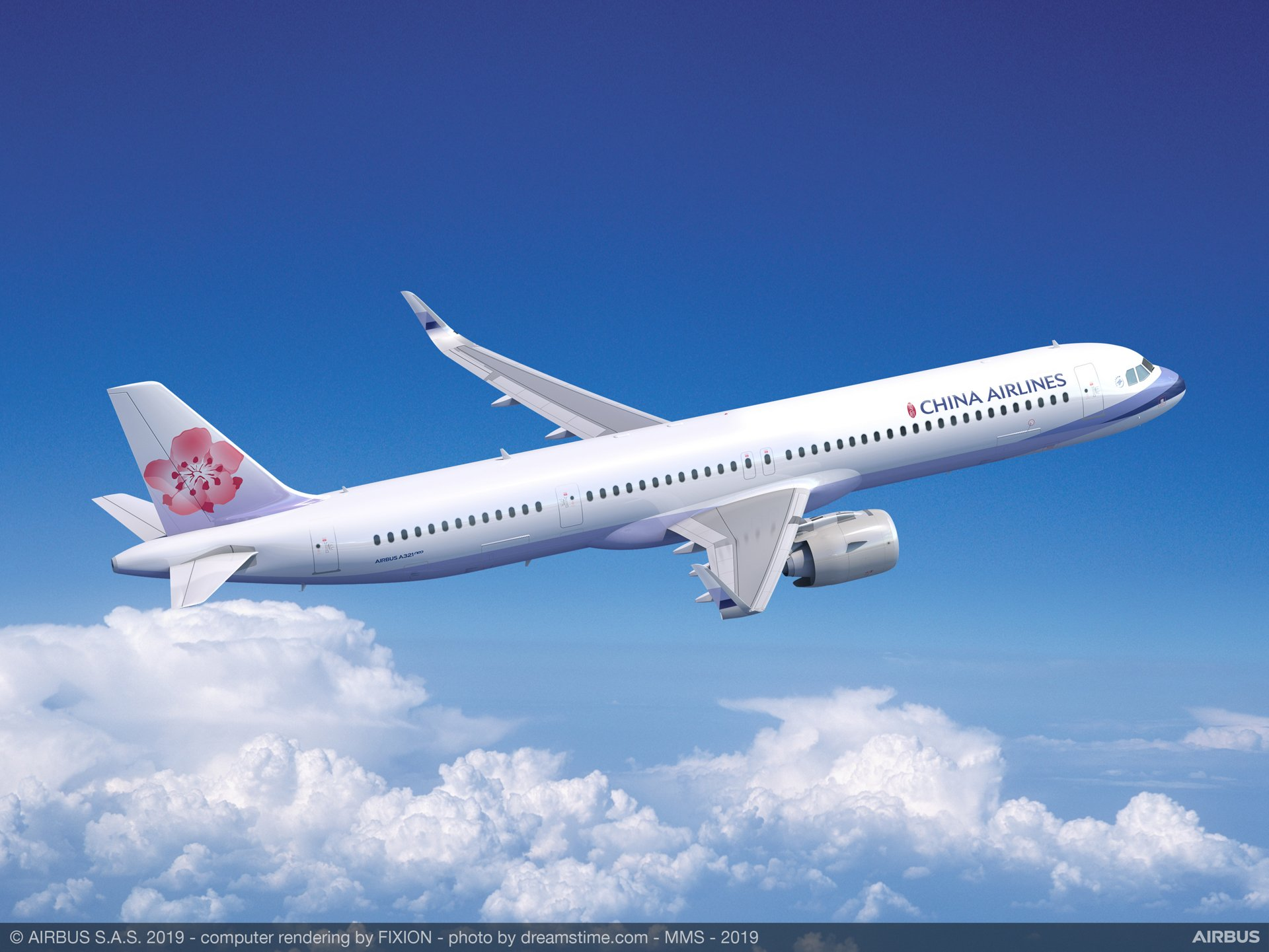 A321neo China Airlines in the air