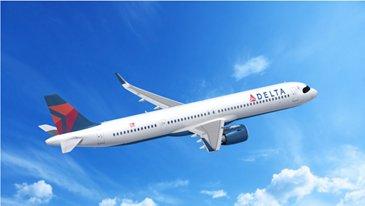 A321neo Delta Air Lines In Flight