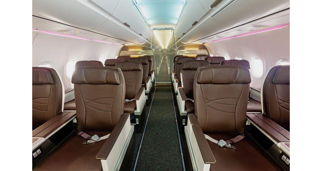 Hawaiian Airlines' A321neo, interior 1