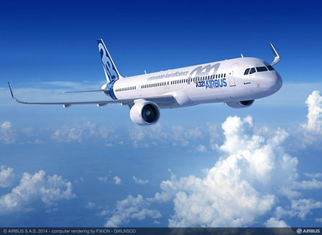 The LEAP-1A-powered A321neo (new engine option) offers the capacity for 165 passengers in its standard two-class configuration, or up to 240 passengers in a comfortable high-density layout