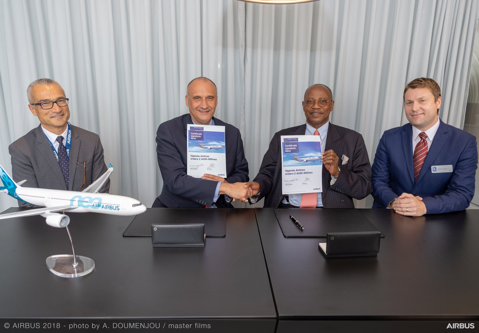 Farnborough 2018 – Uganda Airlines order for two A330neo 1