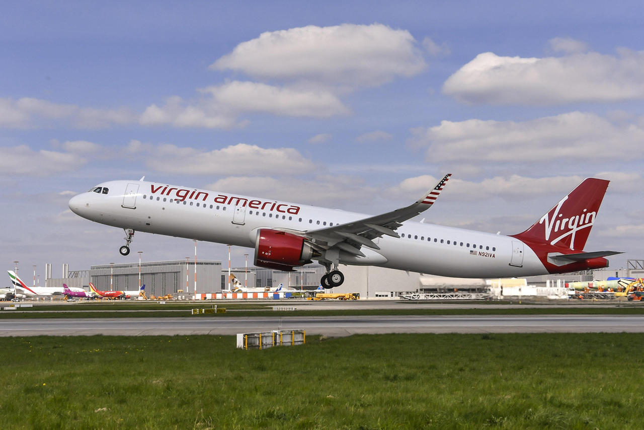 The first-ever A321neo, powered by CFM International's LEAP-1A engines, was delivered by Airbus to U.S. airline Virgin America
