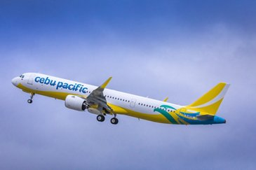 Cebu Pacific A321neo taking off from Hamburg, Germany - Hi Res