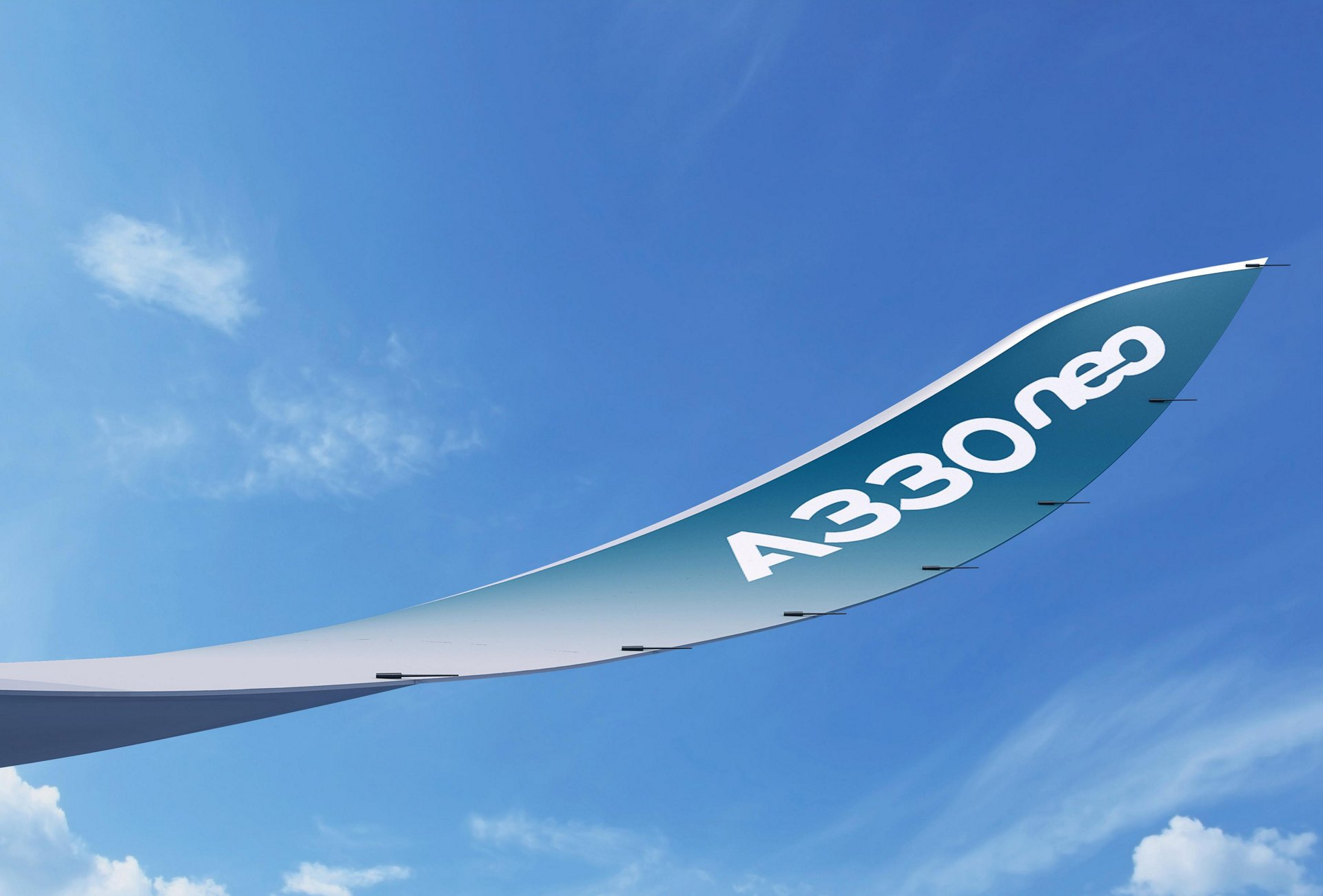 The A330neo's vertical wing-tip extension is an example of Airbus' efforts in biomimicry.
