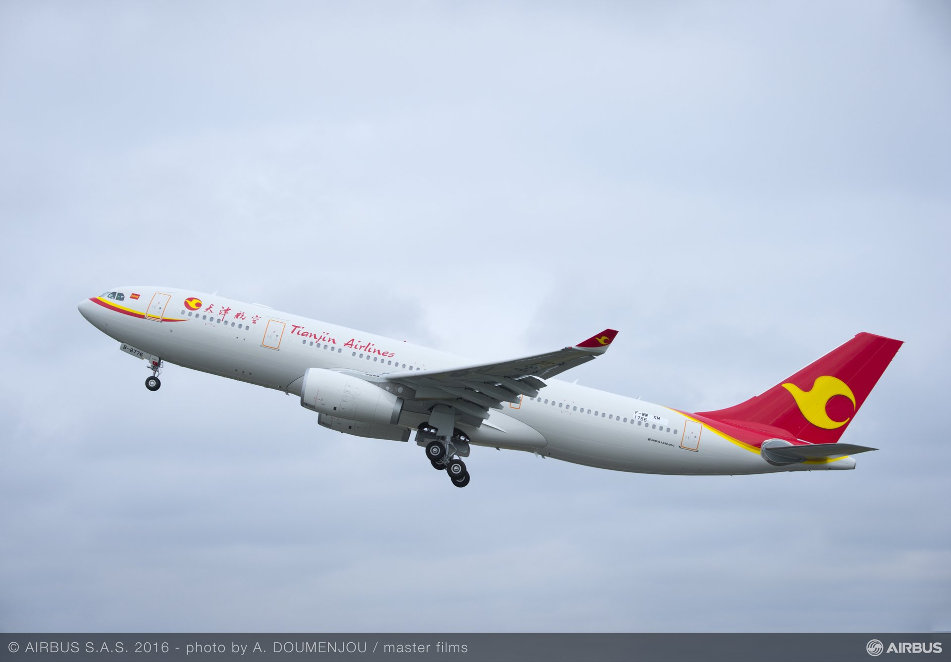A330 Tianjin Airlines Delivery