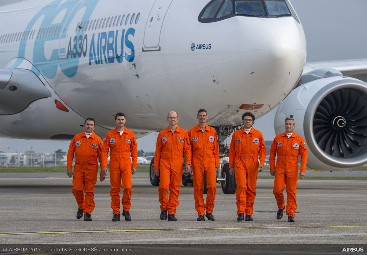 A330neo First Fligh Crew