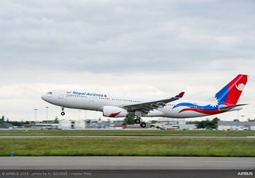 Nepal Airlines' first A330
