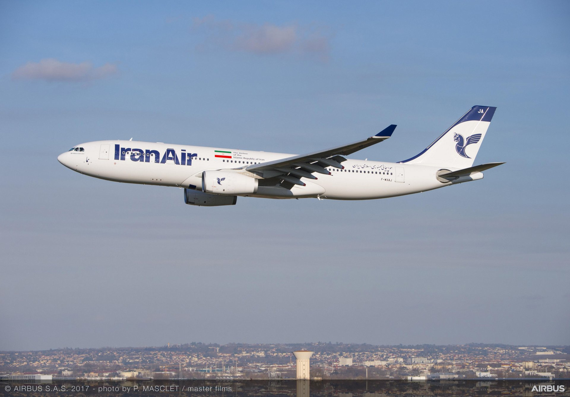Iran Air's first new A330-200 jetliner – delivered in March 2017 – features a two-class cabin layout that seats 32 passengers in business and 206 in economy