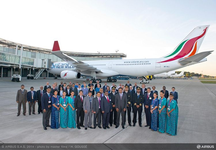 Delivery ceremony for SriLankan Airlines' first A330-300