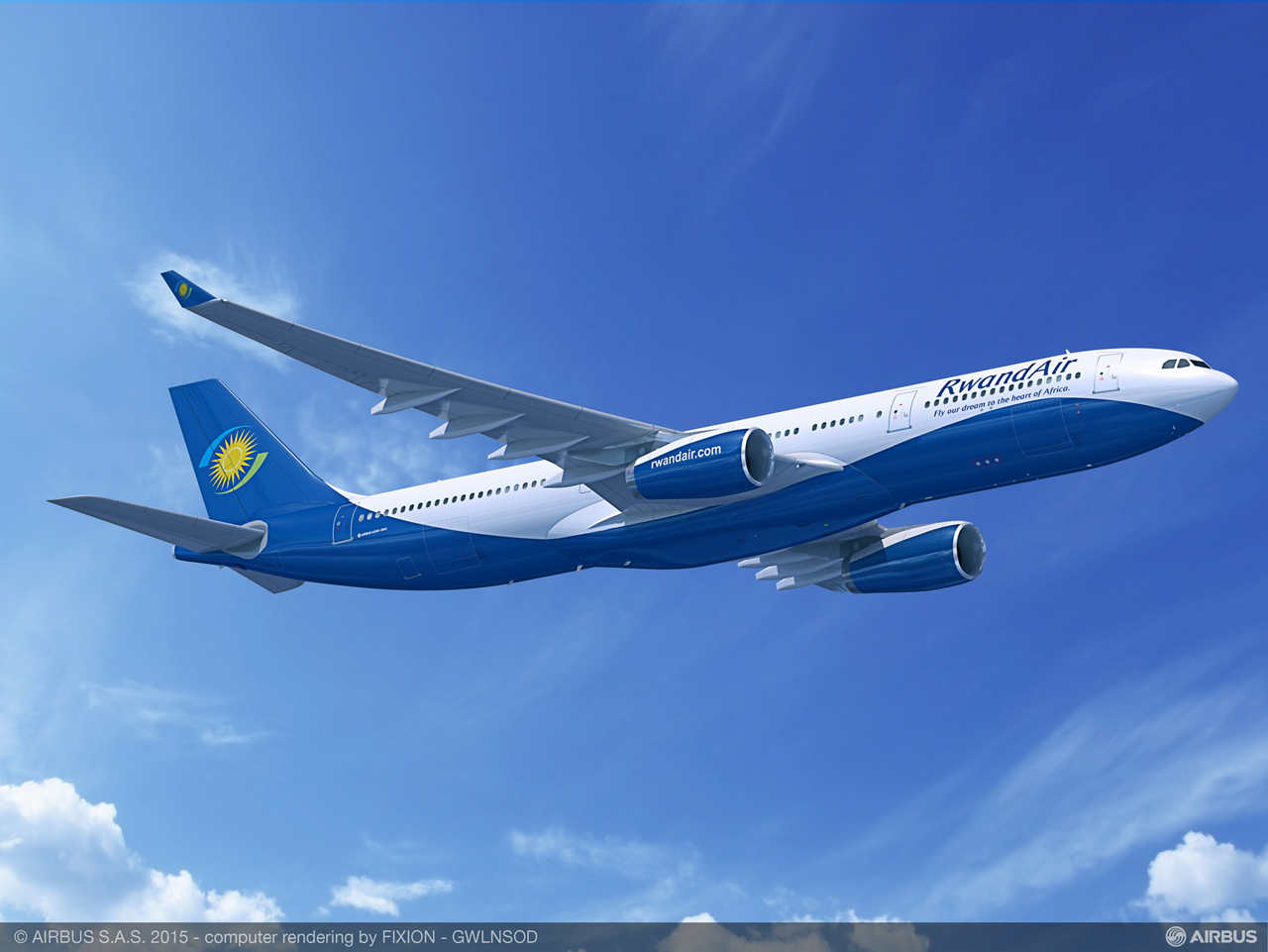 National flag carrier RwandAir will be East Africa's first airline to benefit from the A330 Family's proven efficiency following its firm order signed for an A330-300 (shown here) and an A330-200