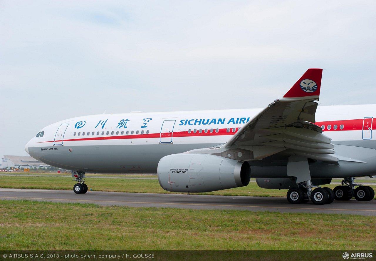 A330-300 MSN1432 SICHUAN TAXIING