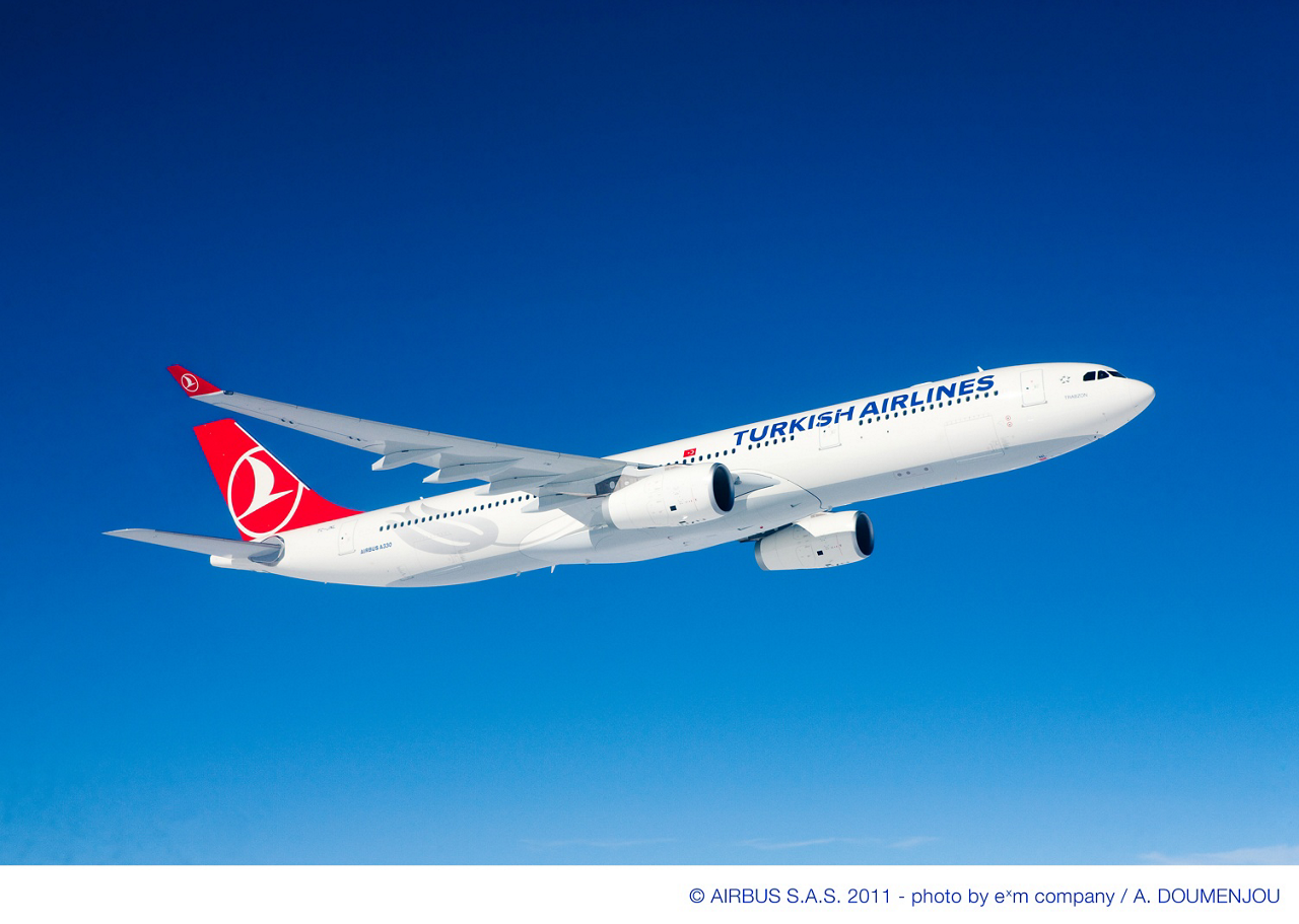 Turkish Airlines signed a repeat order for two A330-300 passenger aircraft, plus three options, as part of its continued growth plans