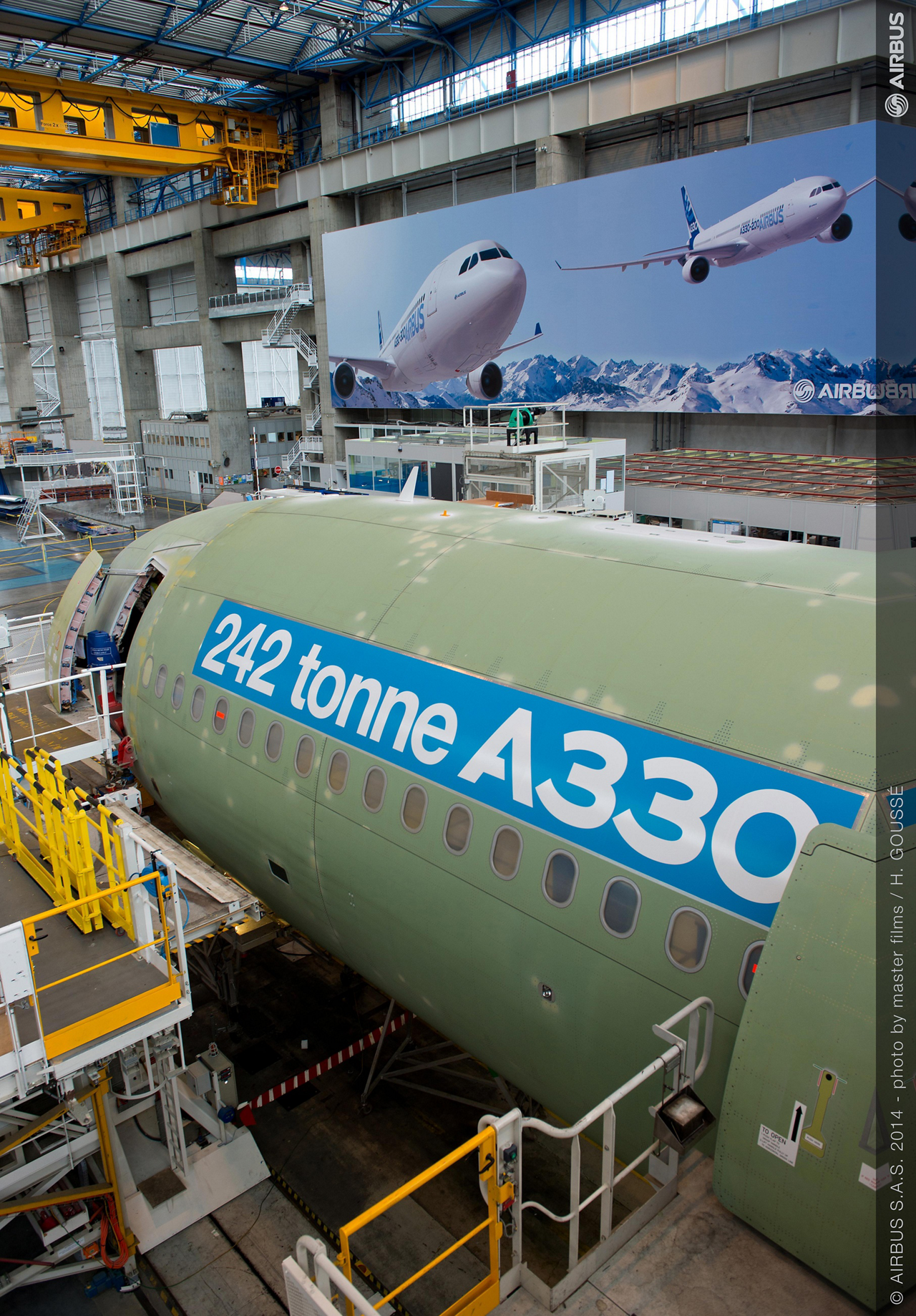 The first 242 tonne maximum takeoff weight A330-300 jetliner will be used for certification flight trials, with the second aircraft of this type planned for delivery to launch customer Delta Air Lines in the second quarter of 2015