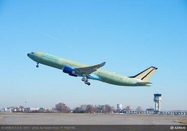 242-tonne maximum takeoff weight A330 maiden flight takeoff_1