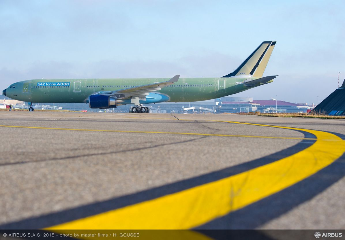 242-tonne maximum takeoff weight A330 before its first flight_2