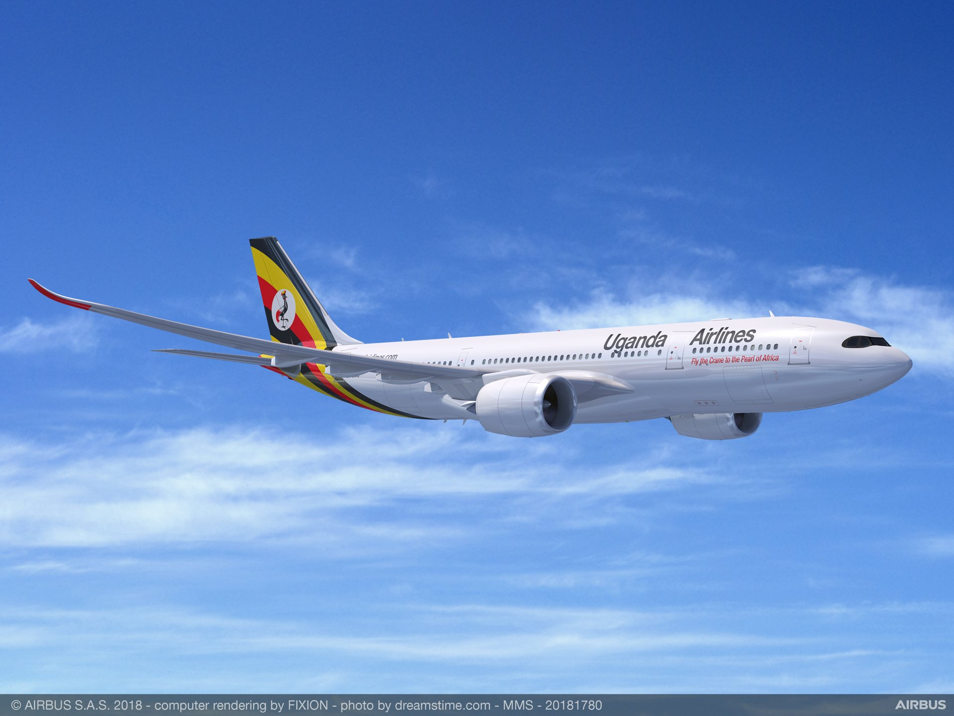 Uganda Airlines plans to use two A330-800 aircraft to build its medium- and long-haul network