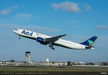Azul receives the first Airbus A330neo in the Americas