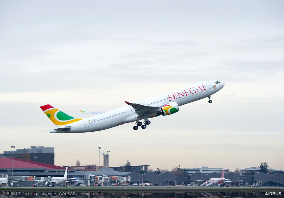 The A330neo for Air Senegal takes off