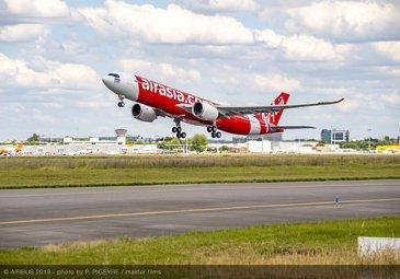 Takeoff of AirAsia X Thailand A330neo
