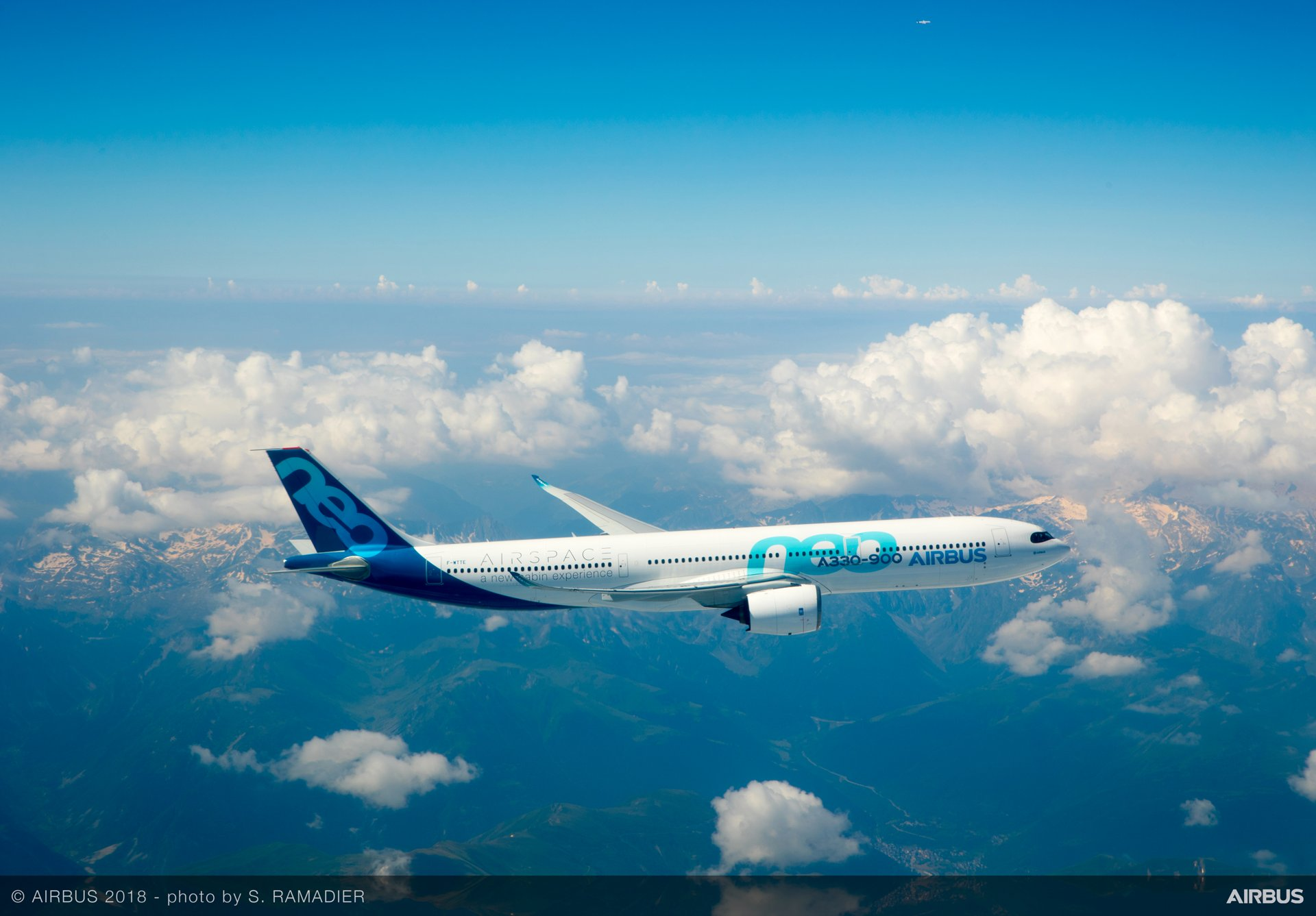 """The A330-900 received its Type Certification following a flight campaign that involved around 1,400 flight test hours performed in less than one year, which was followed by approval for ETOPS (Extended-range Twin engine aircraft Operations) """"beyond 180 minutes"""" diversion time"""