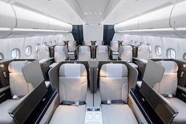 A330neo Hi Fly – Business class seating