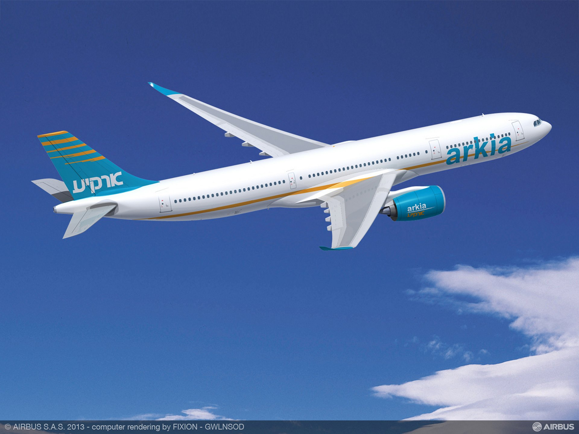 Farnborough Airshow_Day 1_ARKIA Israeli Airlines A330-900neo 2