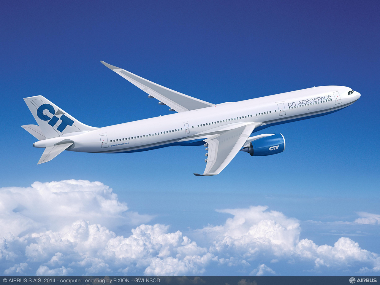 CIT Group Inc., which became one of the A330neo launch customers with signing of an initial agreement at the 2014 Farnborough International Airshow, has firmed up its order for 15 A330-900neo jetliners, plus five A321ceo aircraft -