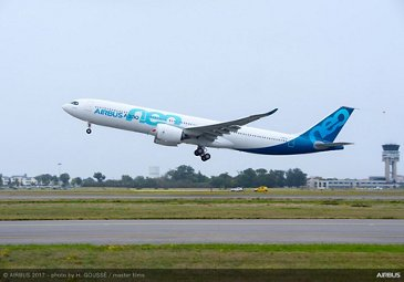 A330neo first flight takeoff