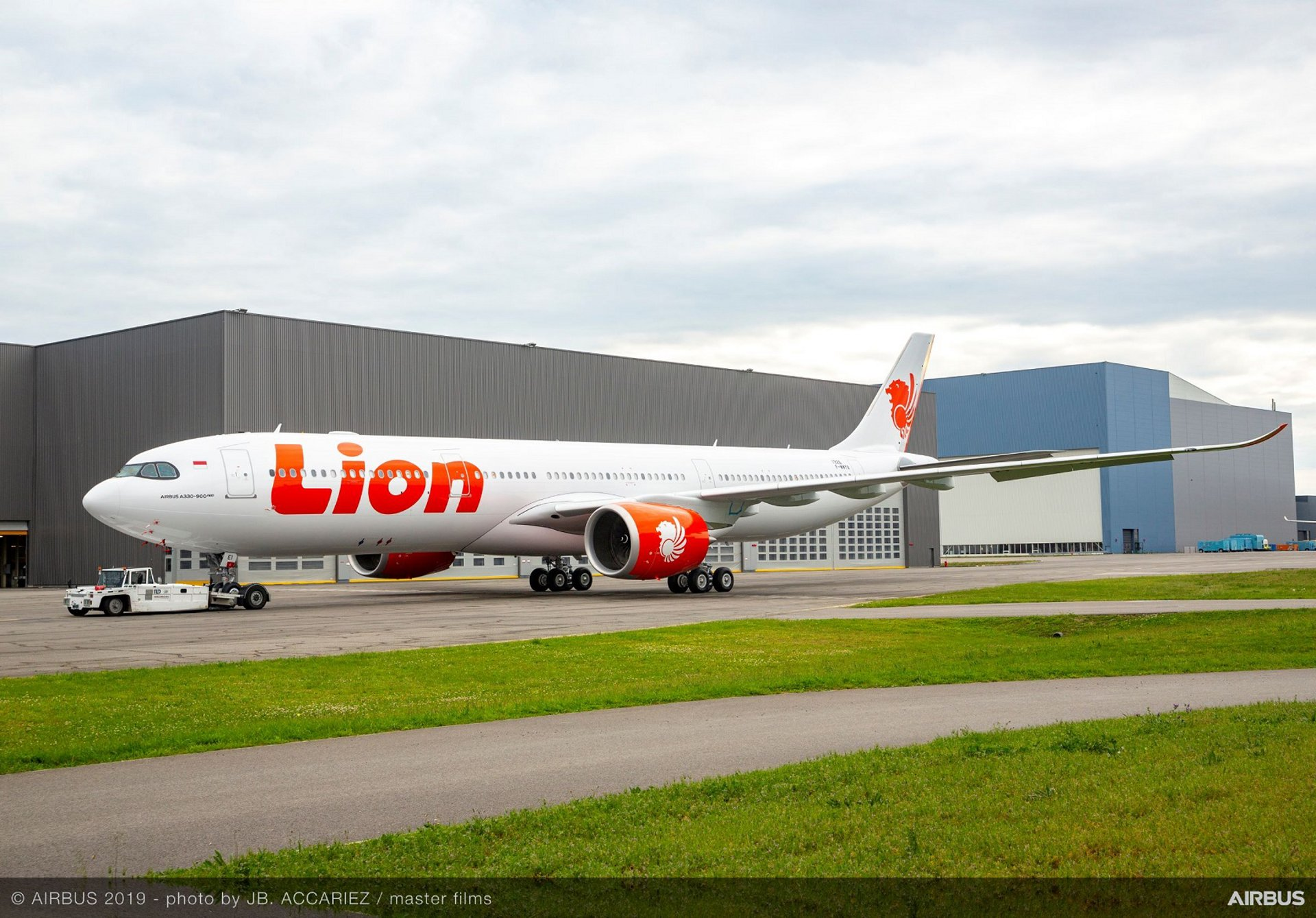 Lion Air's first A330-900 paint shop roll-out