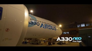 Live the A330neo First Flight from the cockpit