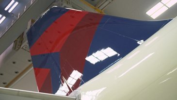 First A330neo Delta Air Lines rolled out paintshop