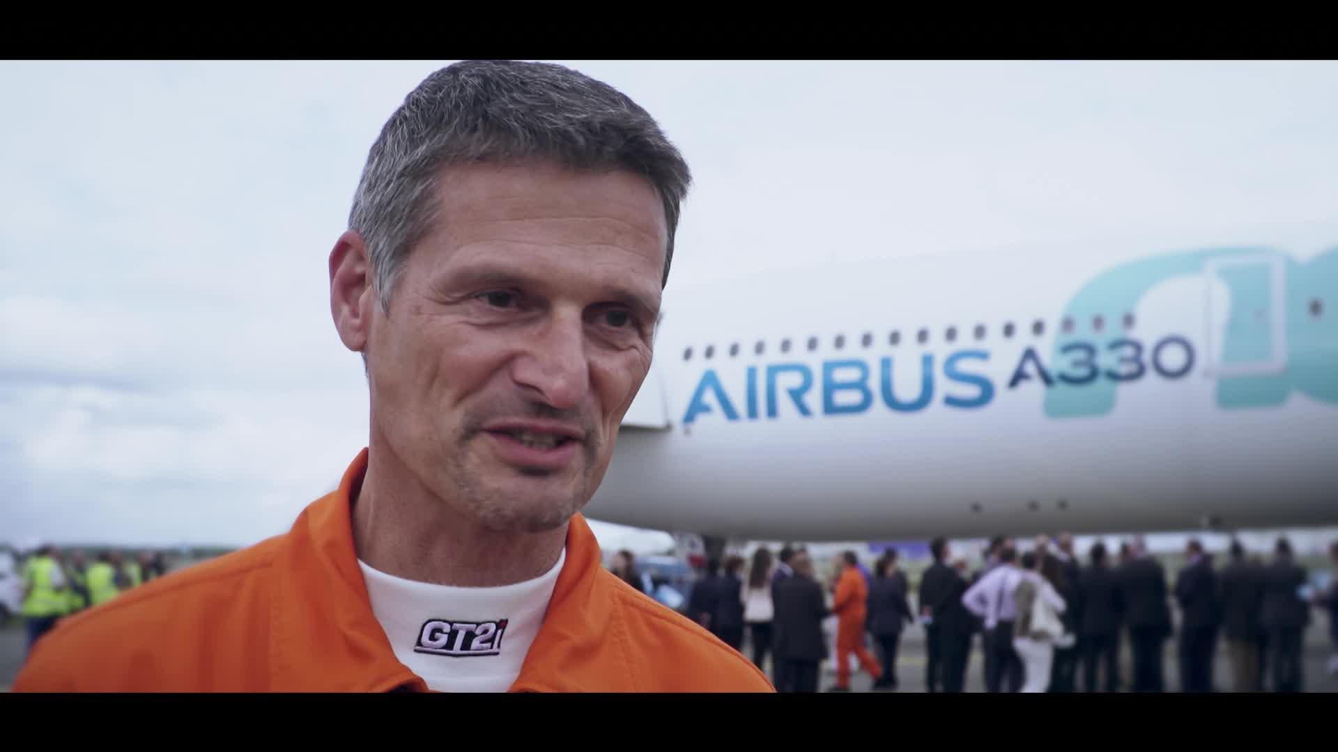 A330neo First Flight interviews