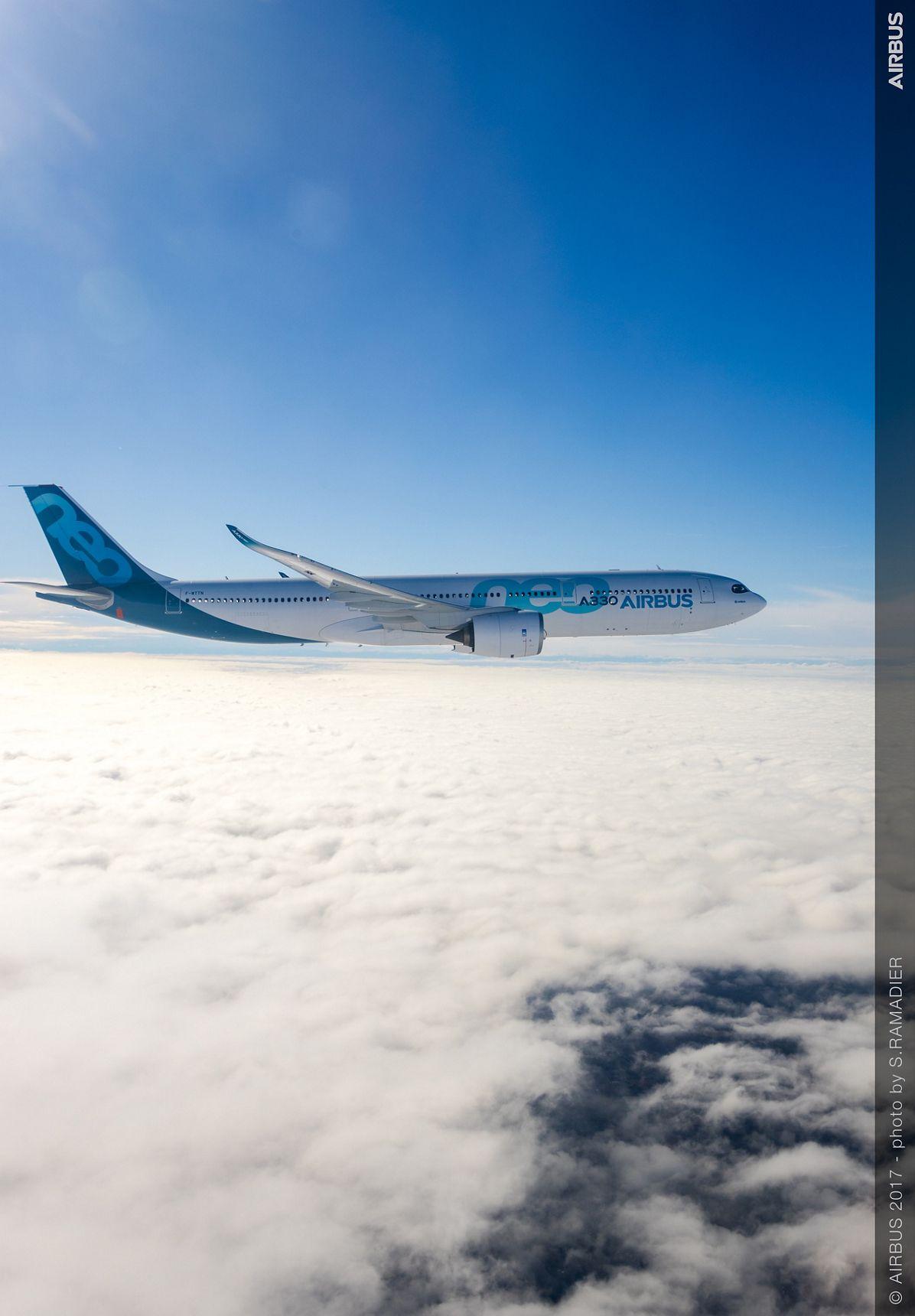 A330neo First Flight in flight 1