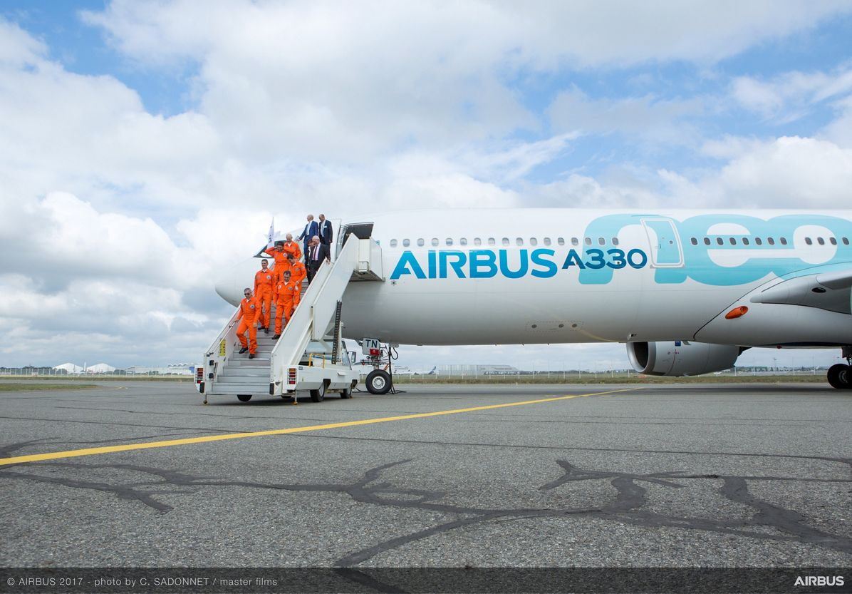 A330neo First Flight crew arrival 1