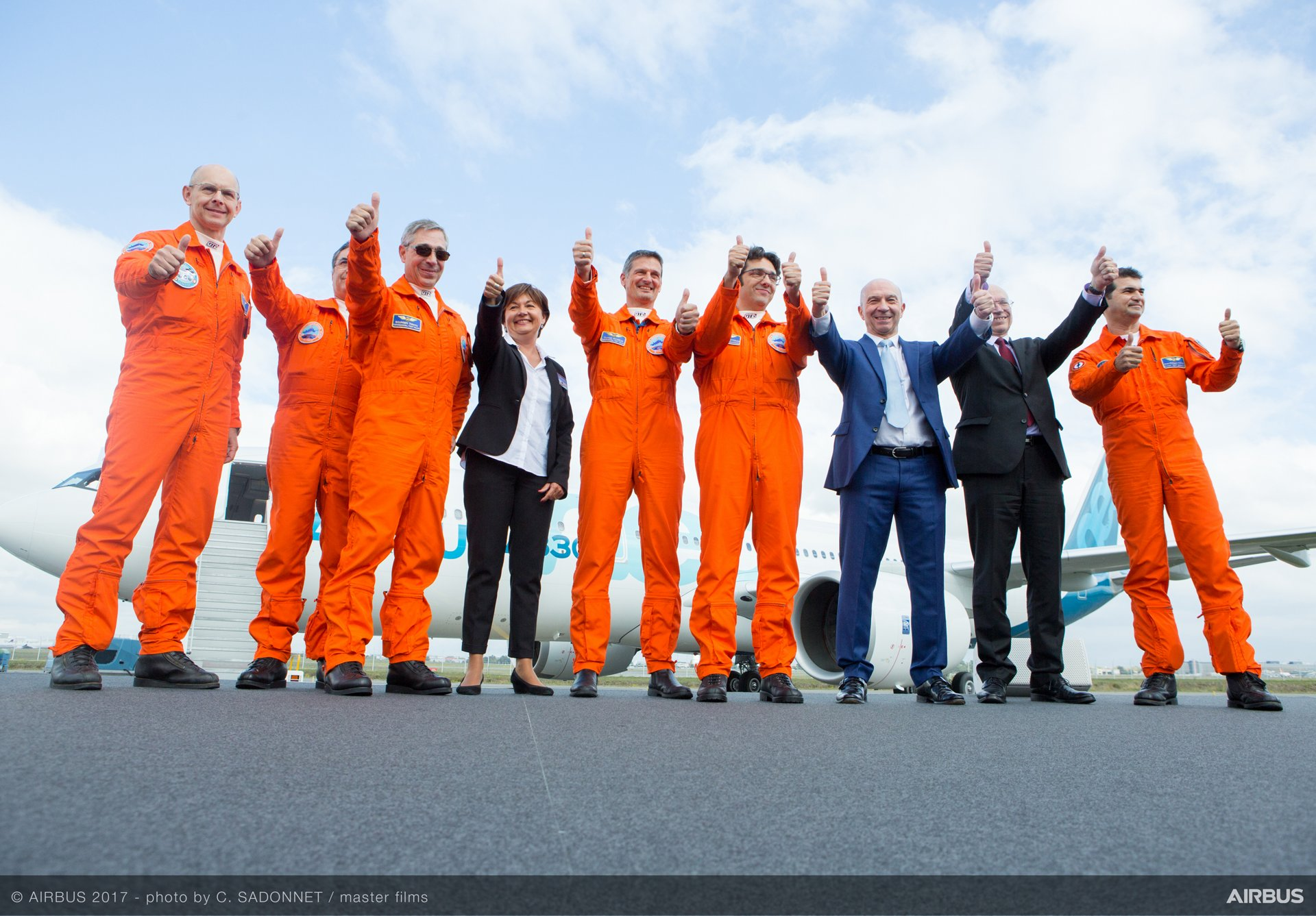 A330neo First Flight crew arrival 3