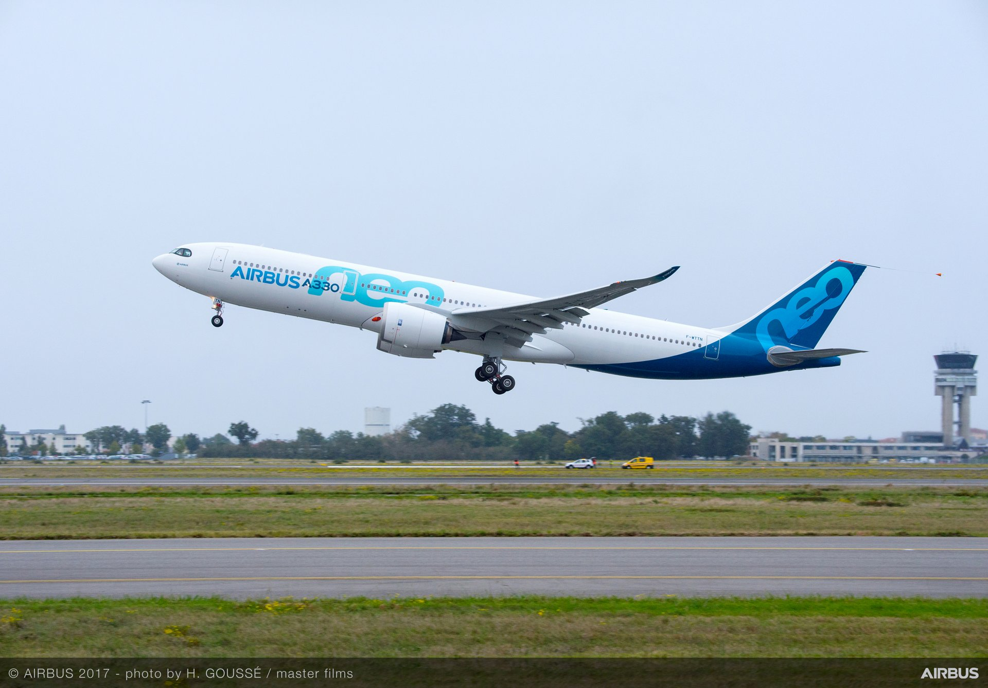 The first A330neo took off 19 October 2017 at Blagnac in Toulouse, France at 9:57 a.m. local time, for its maiden flight performed over southwestern France