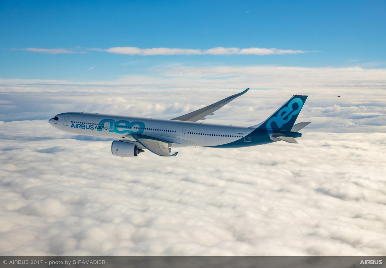 Airbus A330neo during first flight