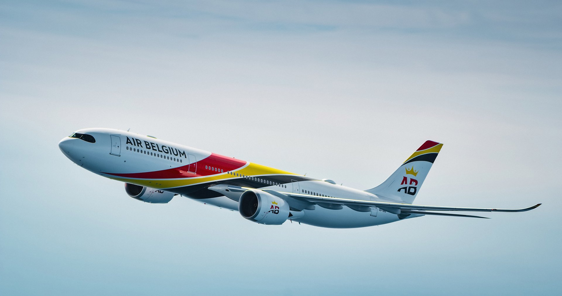 Air Belgium, the full-service international destination carrier headquartered in Mont-Saint-Guibert in Belgium, has taken delivery of the first of two A330-900.  Copyright Eric Magnan