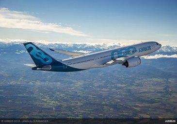 A330-800第一次飞行 - 在飞行中