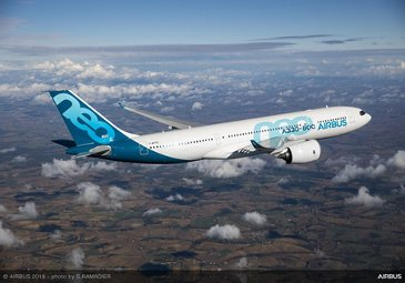 Airbus A330-800 performing its first flight